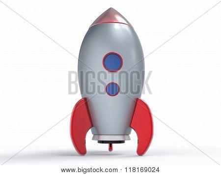 Isolated 3D Metallic Rocket