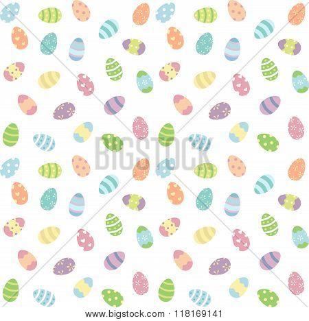 Easter eggs pastel pattern