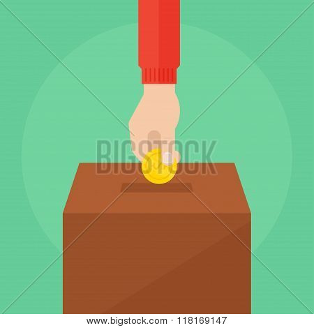 Donate Vector Illustration