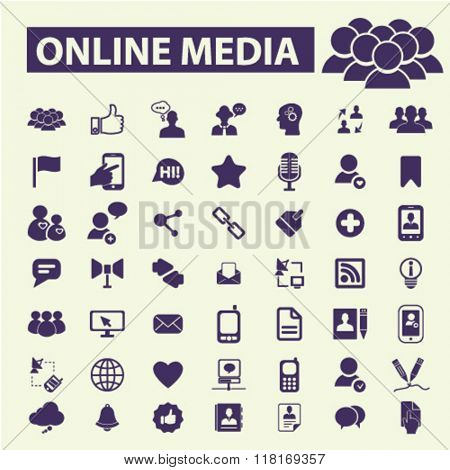 online social media, blog icons, social media icons, community concept, user icon, avatar icons, social icons