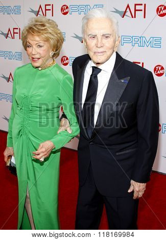 Kirk Douglas and Diana Douglas at the 37th Annual AFI LIfetime Achievement Awards held at the Sony Pictures Studios in Culver City, USA on June 11, 2009.