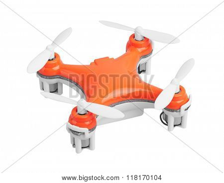 Drone, quadrocopter, isolated on white background