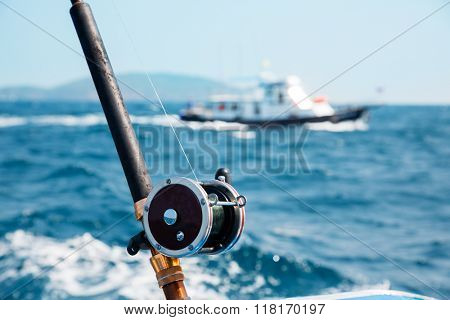 Fishing trolling in the Andaman Sea, Thailand.