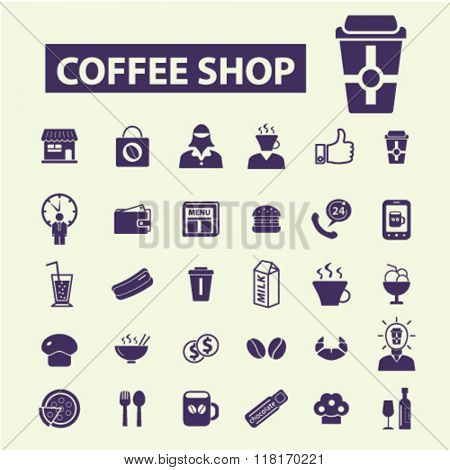 coffee shop, cafe icons, coffee icons, café logo