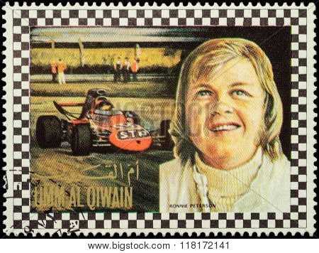 Bengt Ronnie Peterson - Swedish Racing Driver On Postage Stamp