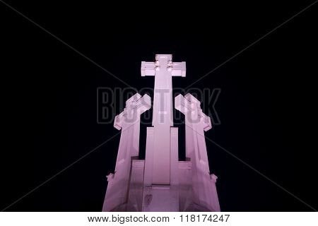 Crosses in the night