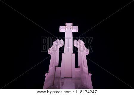 Crosses in the night