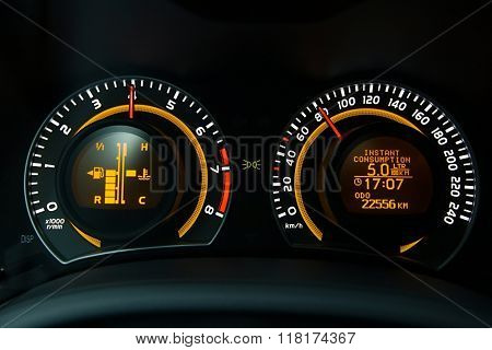 Speedometer car dashboard