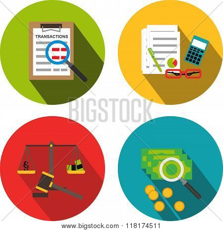 Business forensic icons