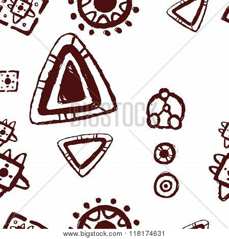 Vector Abstract Pattern For Design, Cave Paintings