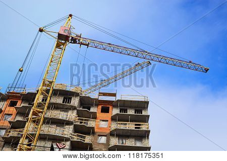 Tower Crane Building A House