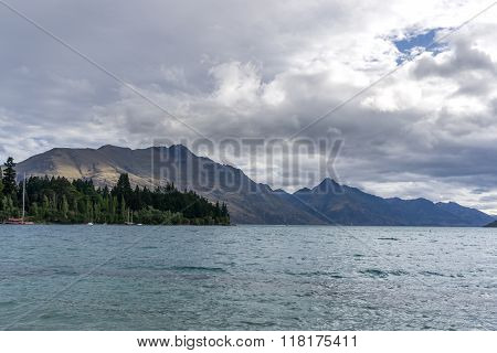 Lake Wakatipu View From Queenstown