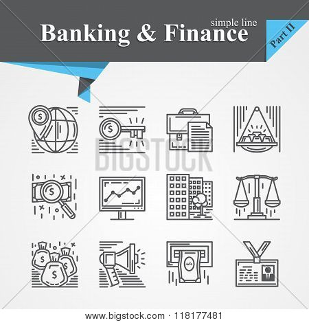 Banking and Financ icons