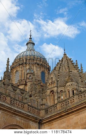New Cathedral Of Salamanca, Spain.