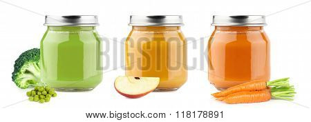 Baby Puree With Fruits And Vegetables