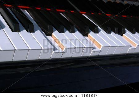 Piano Keyboard Sloping Keys Down