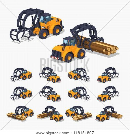 Yellow log loader