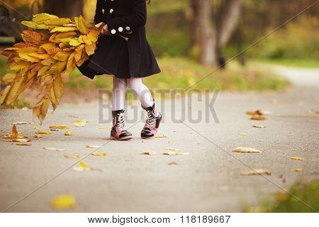 Warm stylish autumn boots.