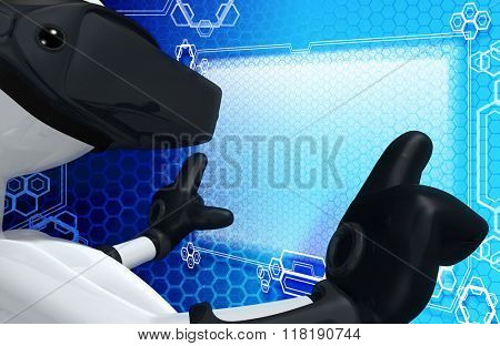 Virtual Reality VR Goggles Glasses Headset Device Concept Image