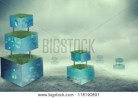 Aquarium cubes