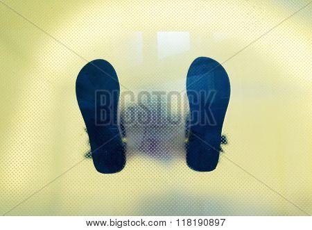 Man's shoes feet
