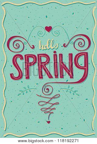 Postcard Hello Spring
