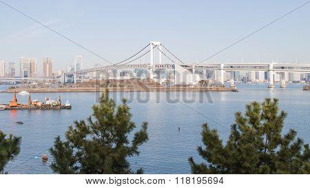 Tokyo Bay And Rainbow Bridge, Japan