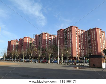Red Appartment Blocks