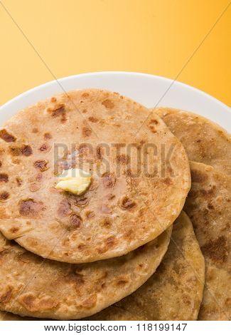 Puran poli is important sweet menu in holi festival in india, indian dessert, puran roti, indian swe
