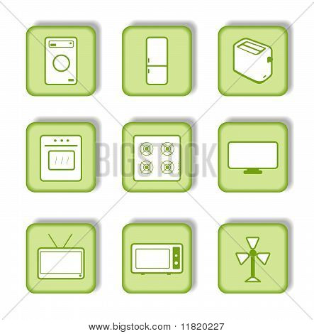 Green Sticker With Icon consumer device