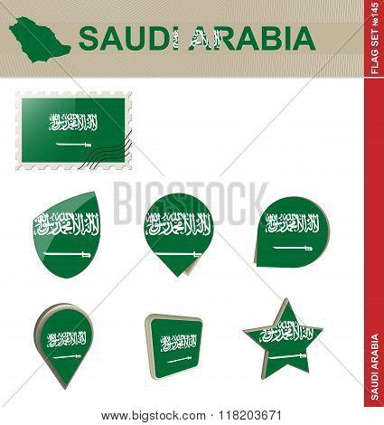 Saudi Arabia Flag Set, Flag Set #145