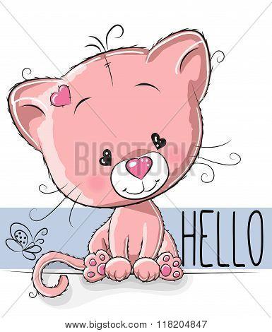 Cute Cartoon Kitten