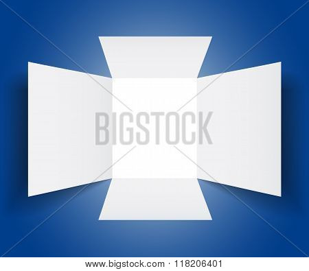 Vector Open Box Template