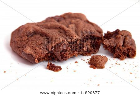 Closeup Chocolate Chunk Cookie