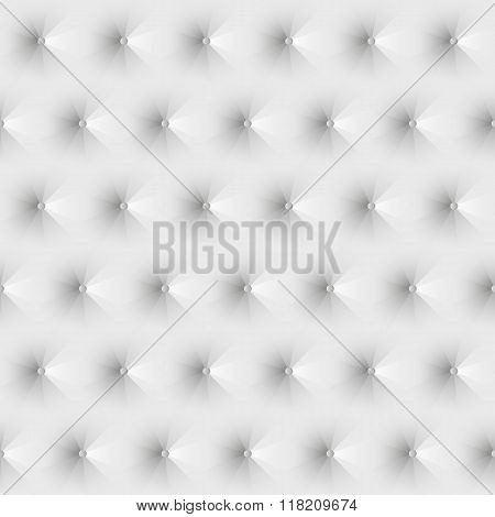 Seamless texture upholstery white leather.