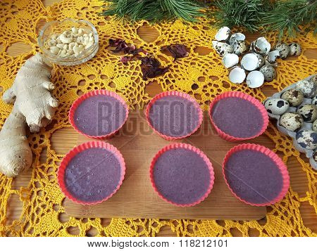 Hibiscus Muffins Red Cakes