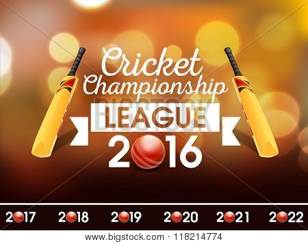 Creative Poster, Banner or Flyer design for Cricket Championship League 2016.