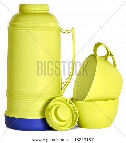 Green Plastic Thermos