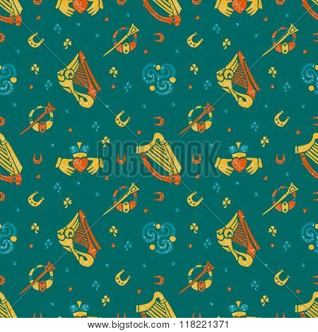 Saint Patricks Day seamless pattern