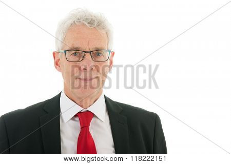 Senior business man studio portrait