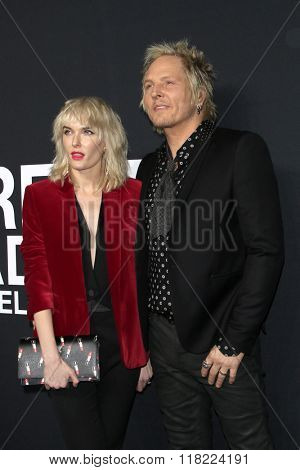LOS ANGELES - FEB 10:  Ace Harper, Matt Sorum at the SAINT LAURENT At The Palladium at the Hollywood Palladium on February 10, 2016 in Los Angeles, CA
