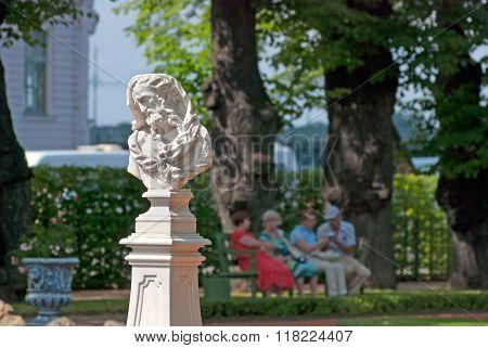 Saint-Petersburg. Russia. Bust of Heraclitus