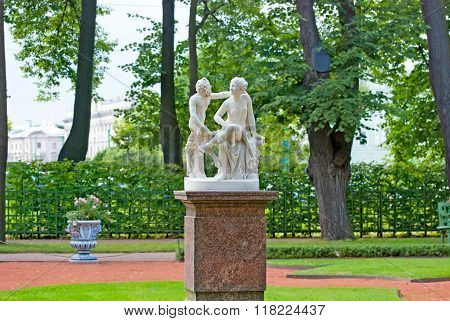 Saint-Petersburg. Russia. Satyr and Bacchante