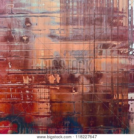 Art grunge vintage textured background. With different color patterns: yellow (beige); brown; blue; red (orange); gray