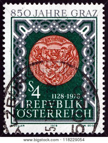 Postage Stamp Austria 1978 Seal Of Graz