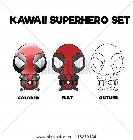 Kawaii Superhero Set