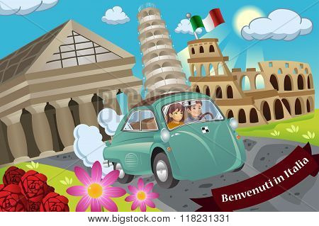 Couple  Honeymoon Around Italy
