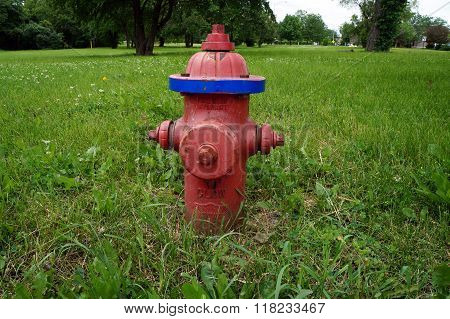 Red Glow Fire Hydrant