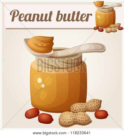 Peanut butter. Detailed Vector Icon
