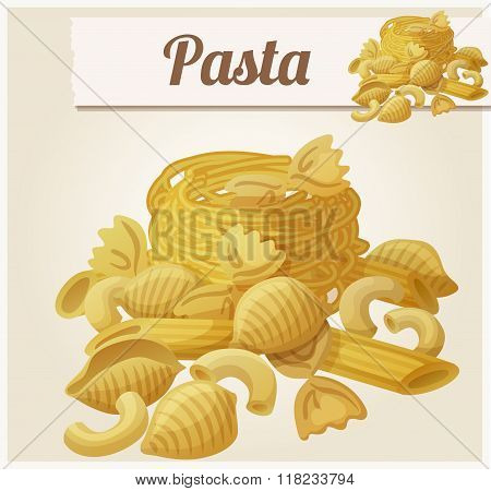 Pasta. Detailed Vector Icon